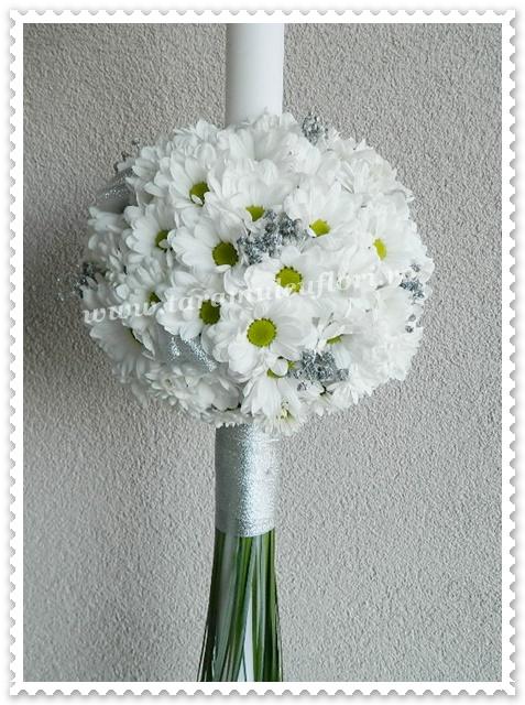 Lumanari de nunta din crizanteme.9746